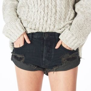 One teaspoon fox black bandit denim shorts